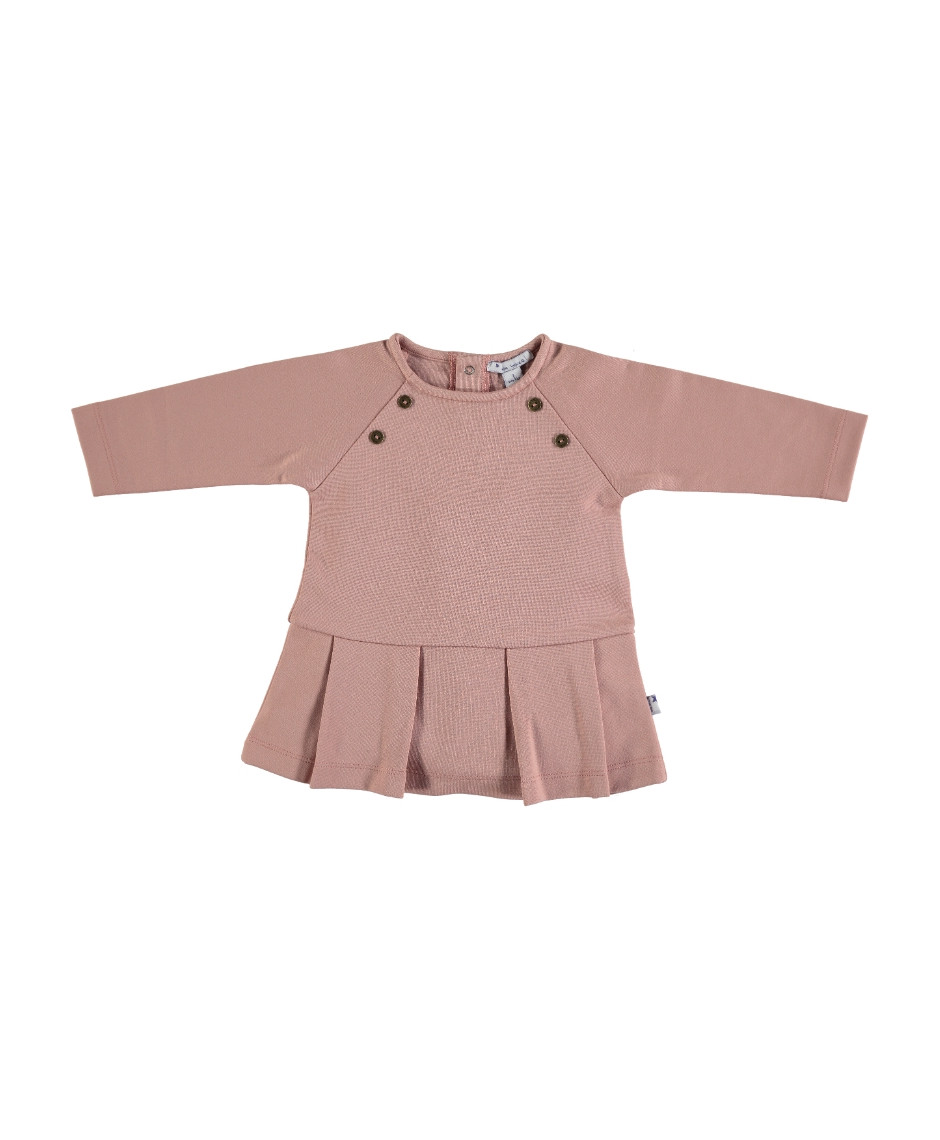 MON MARCEL PLEATED DRESS PINK