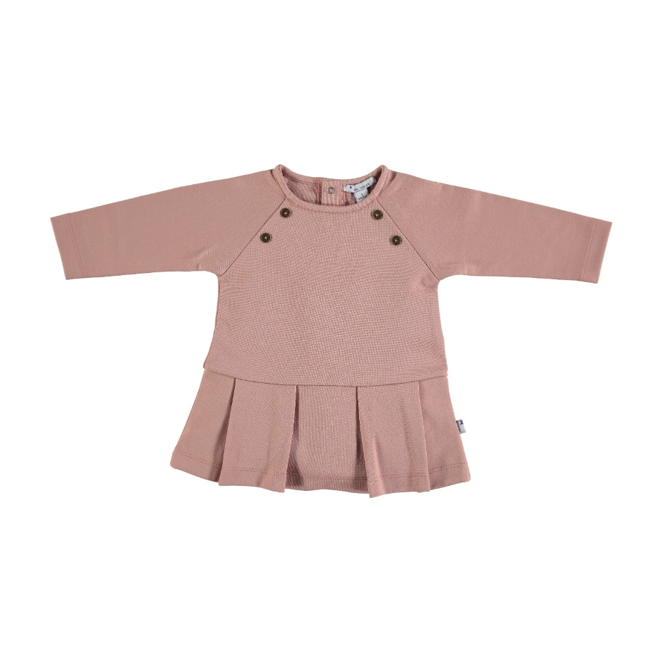 MON MARCEL PLEATED DRESS PINK