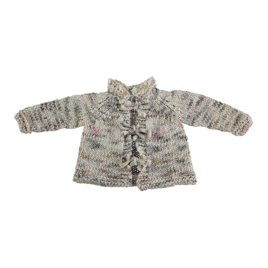 MON MARCEL JACKET WITH BOWS MULTI BEIGE