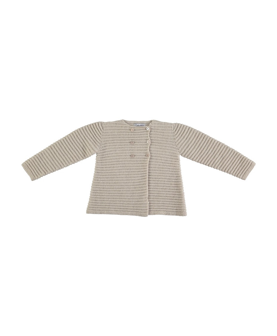 MON MARCEL DOUBLE BUTTONED JACKET BEIGE