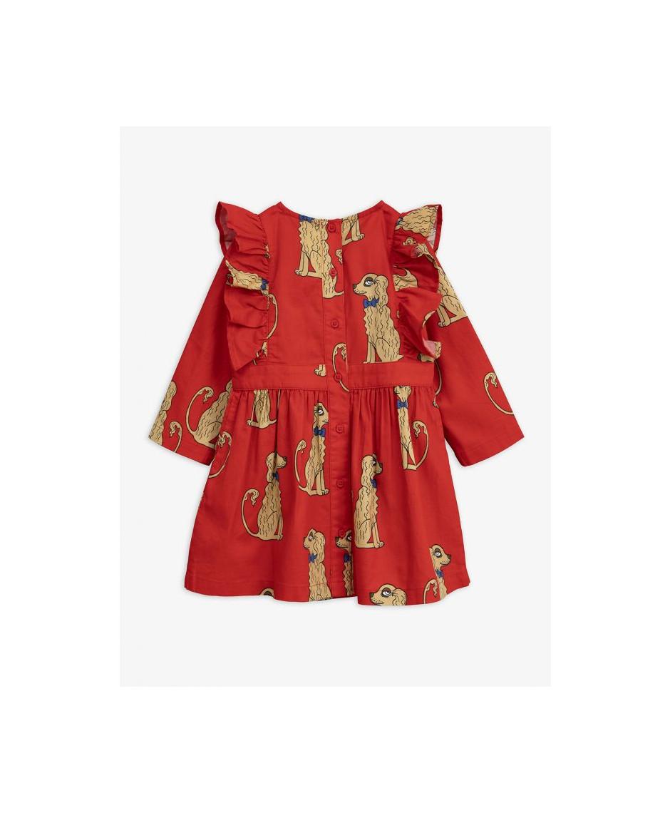 MINI RODINI DRESS SPANIELS RED
