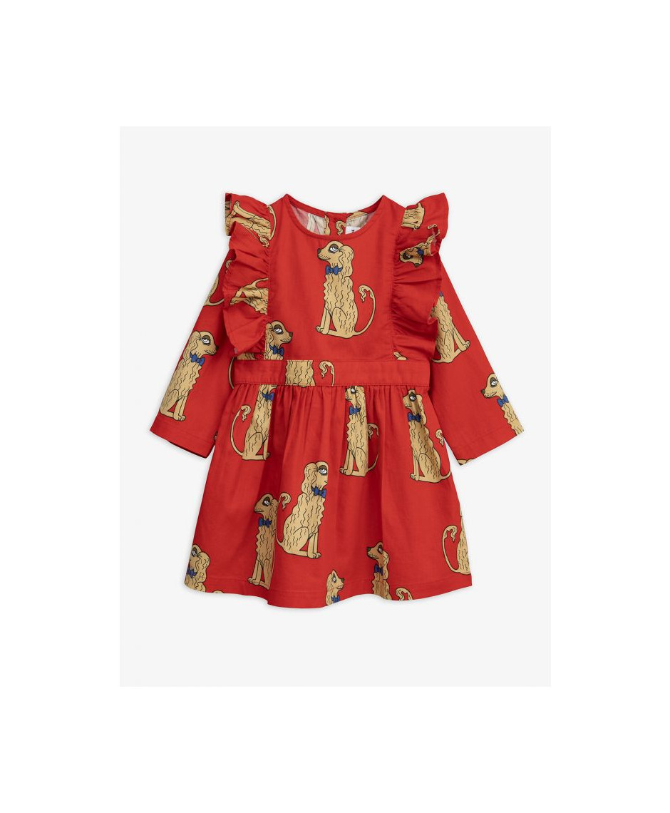 MINI RODINI DRESS SPANIELS RED