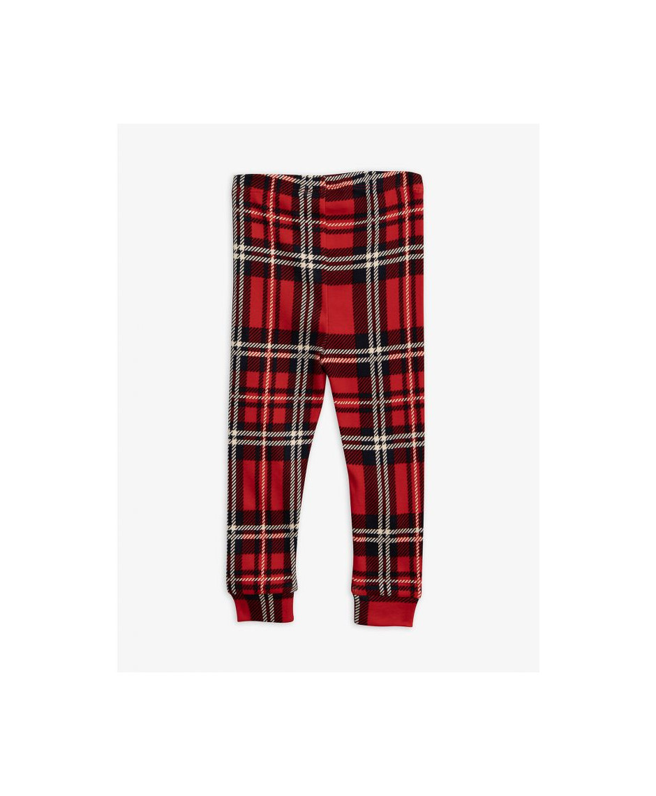 MINI RODINI LEGGINGS CHECK RED