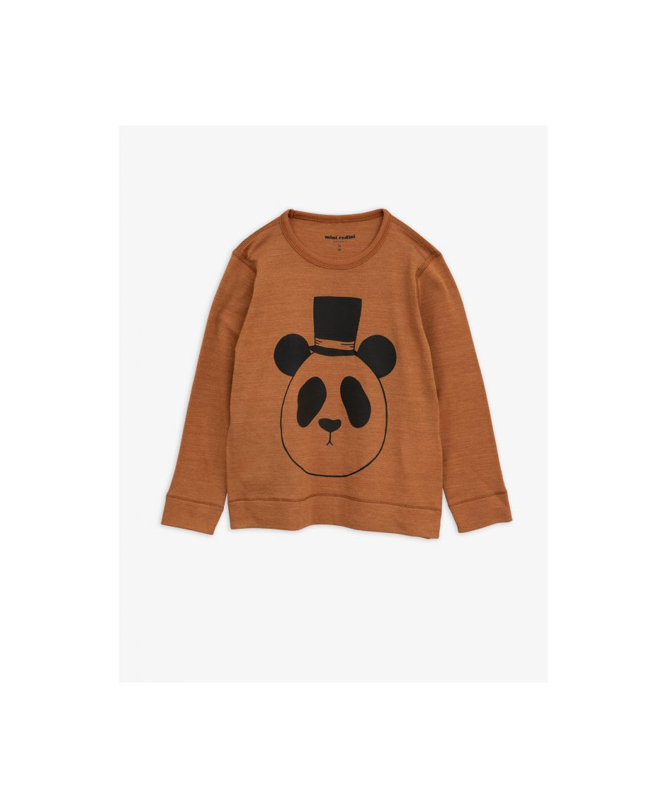 MINI RODINI T-SHIRT PANDA BROWN