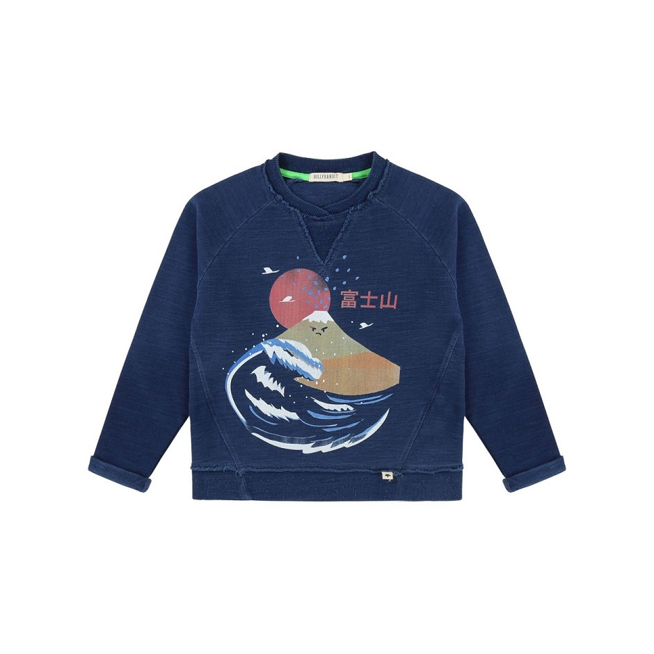 BILLYBANDIT SWEATSHIRT JAPON BLUE