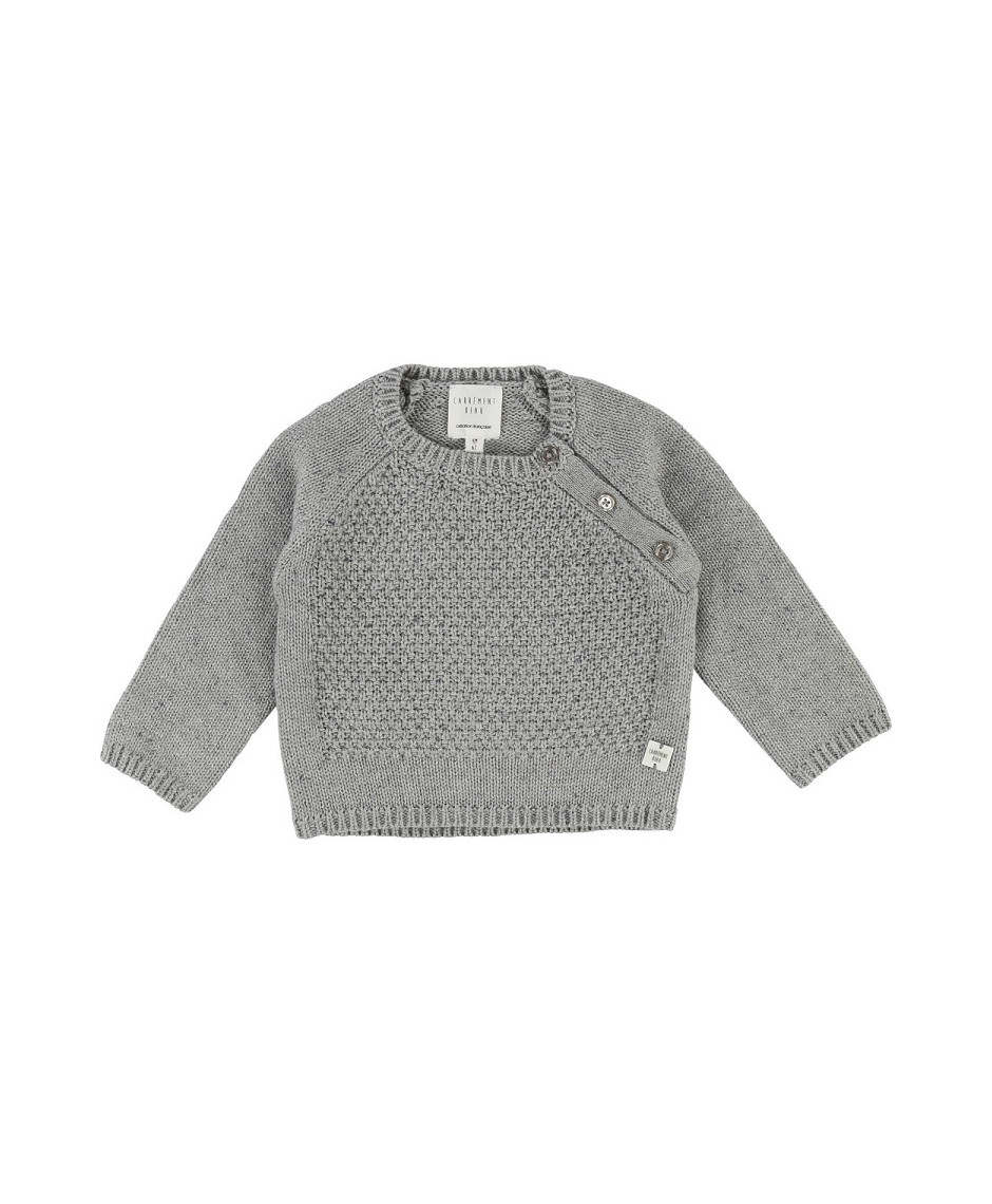 CARRÉMENT BEAU SWEATER GREY CHINE