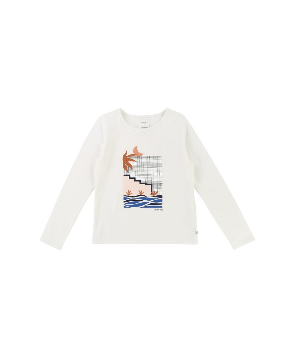 CARRÉMENT BEAU T-SHIRT MOON OFF WHITE