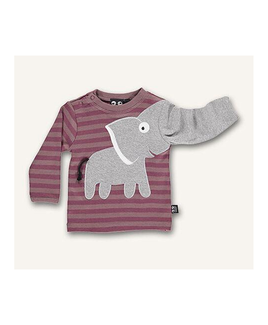 UBANG T-SHIRT BABY ELEPHANT WOOD ROSE