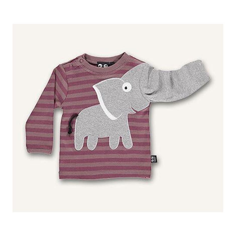 UBANG T-SHIRT BABY ELEPHANT WOOD ROSE
