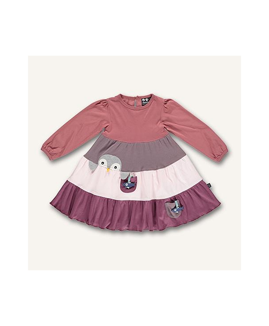 UBANG DRESS PENGUIN FADED ROSE