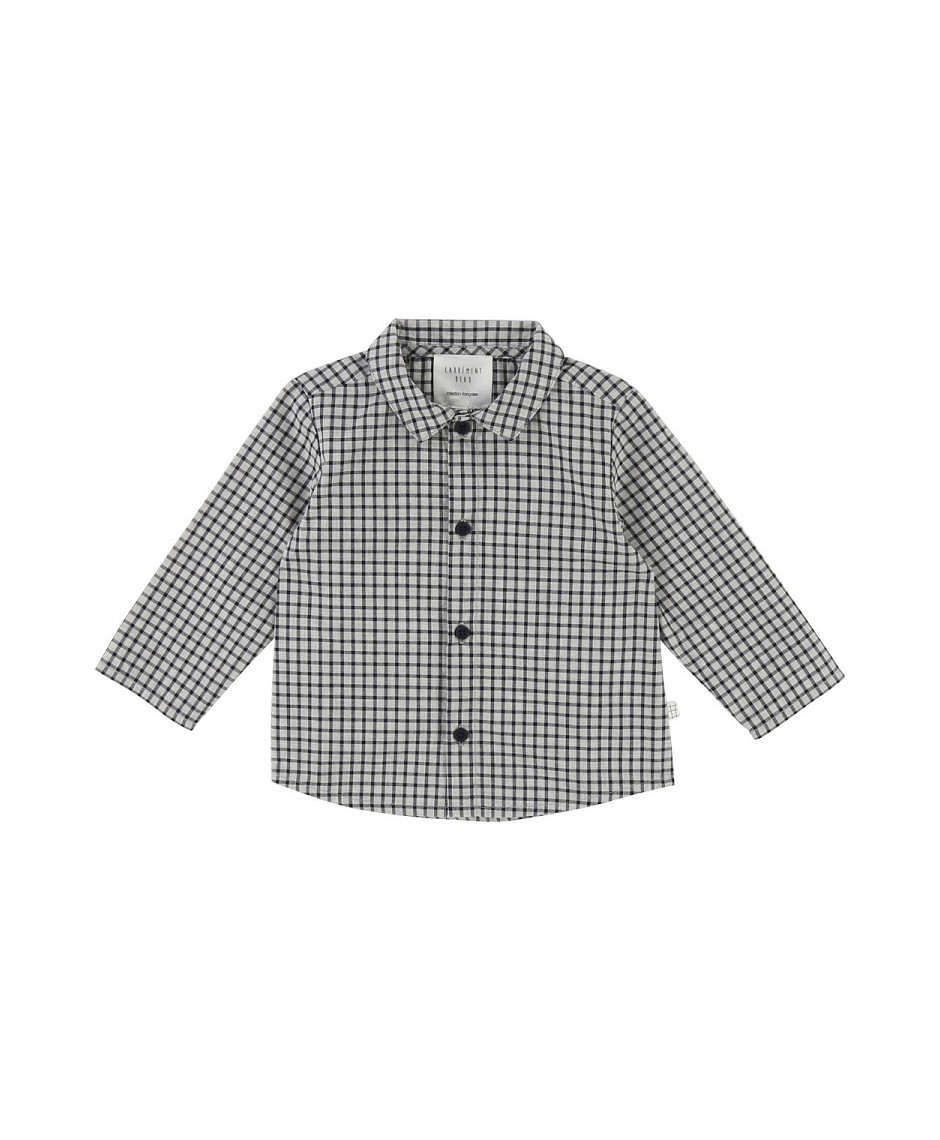 CARRÉMENT BEAU SHIRT CHECK MARINE GREY