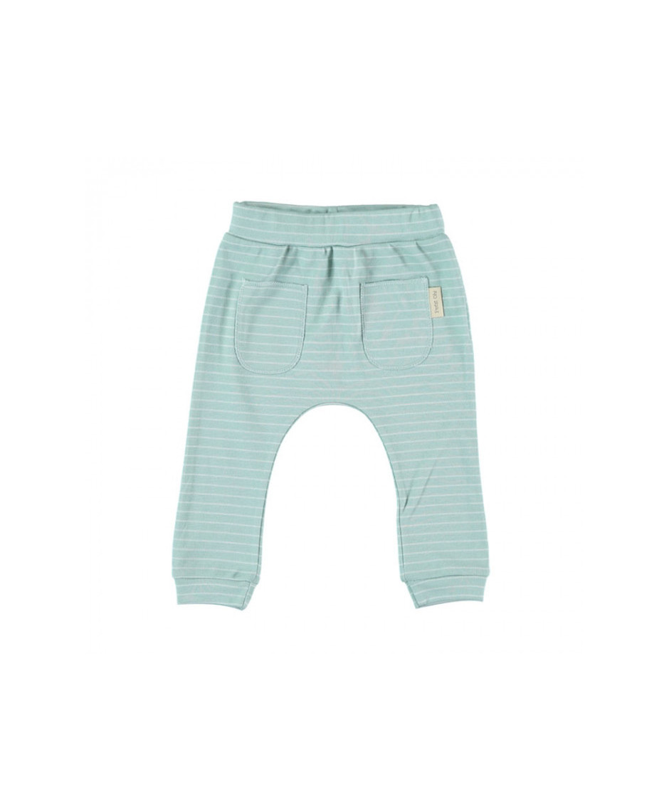 PETIT OH PANTS KIM AQUA STRIPES