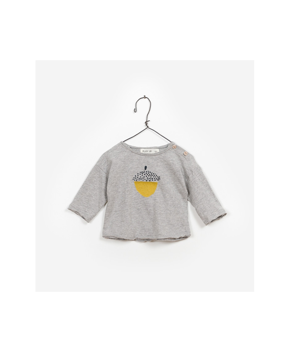 PLAY UP T-SHIRT FLAMÉ GREY