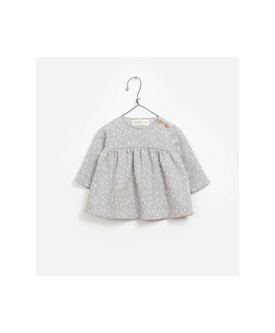 PLAY UP DRESS JACQUARD LIGHT GREY