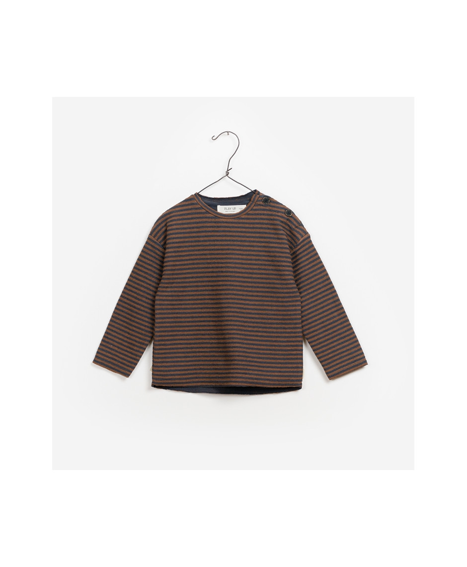PLAY UP SWEATSHIRT STRIPES CARBON BROWN
