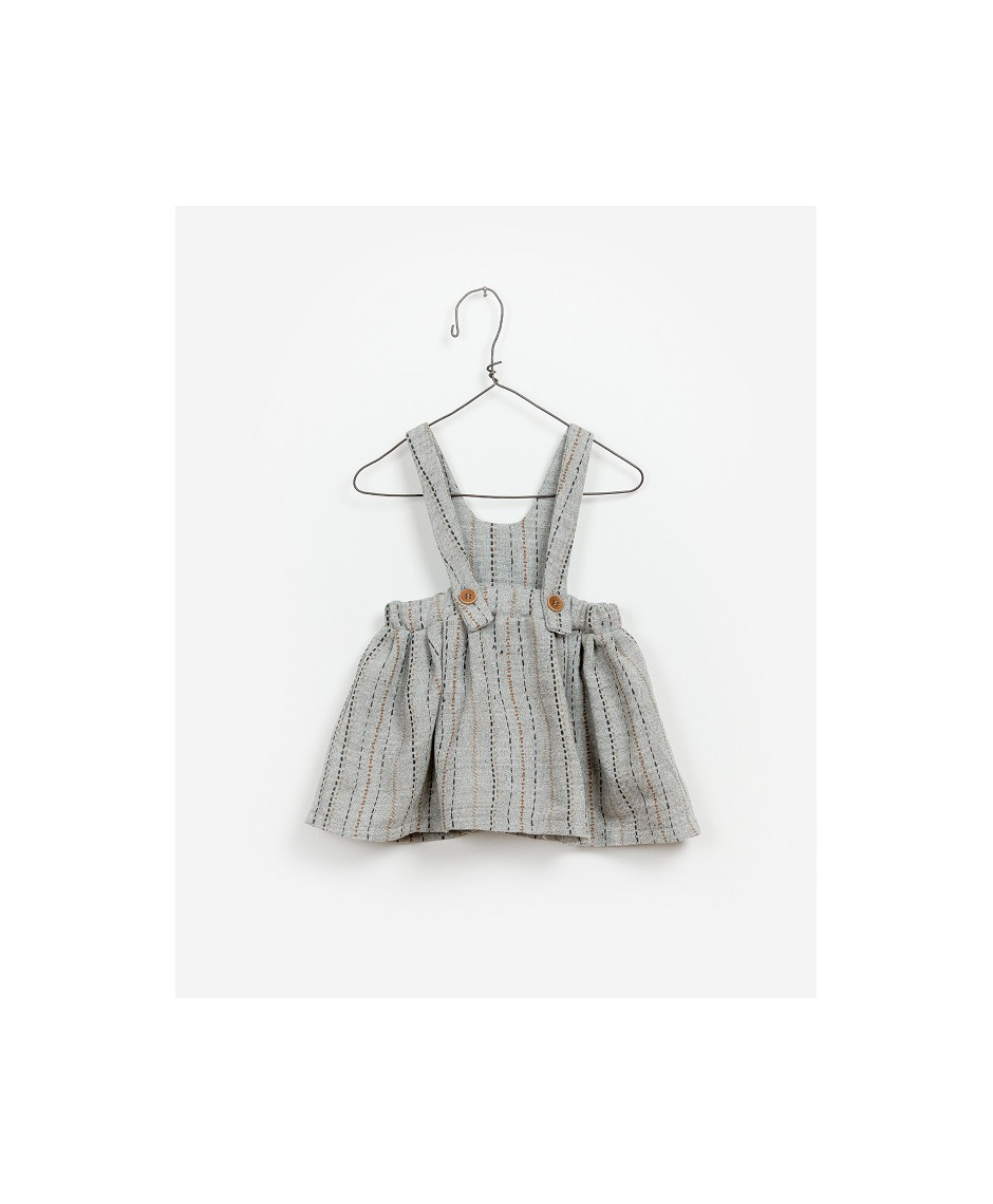 PLAY UP FALDA TIRANTES ESTAMPADO GRIS