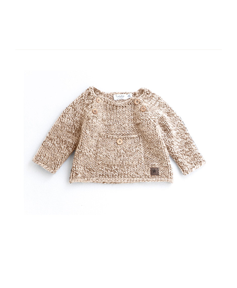 TOCOTO SWEATER POCKET LIGHT BROWN
