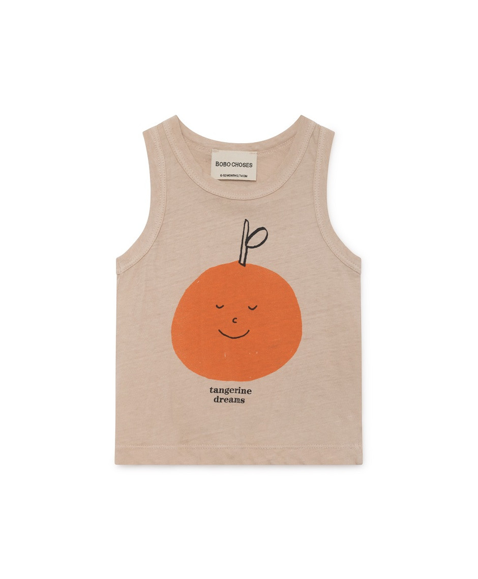 BOBO CHOSES T-SHIRT TANGERINE DREAMS LINEN