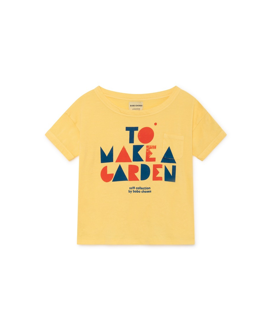 BOBO CHOSES T-SHIRT GEOMETRIC YELLOW