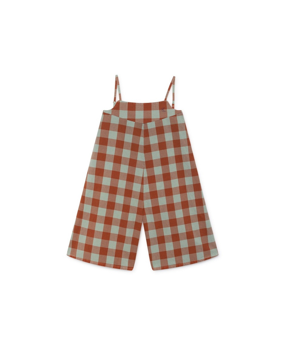 BOBO CHOSES PLAYSUIT VICHY BROWN GREEN