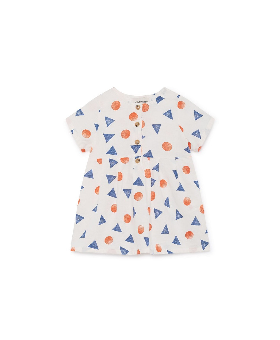 BOBO CHOSES DRESS GEOMETRIC WHITE