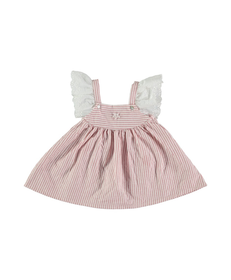 TOCOTO MINI DRESS STRIPES PINK