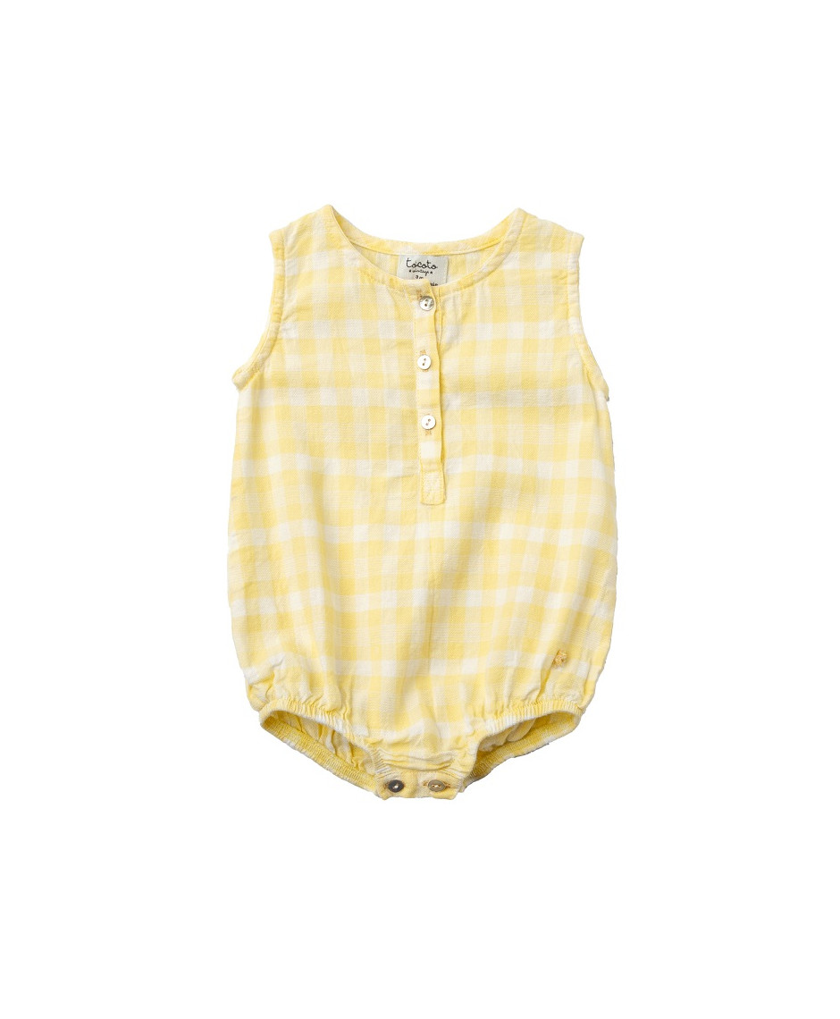 TOCOTO ROMPERS VICHY YELLOW