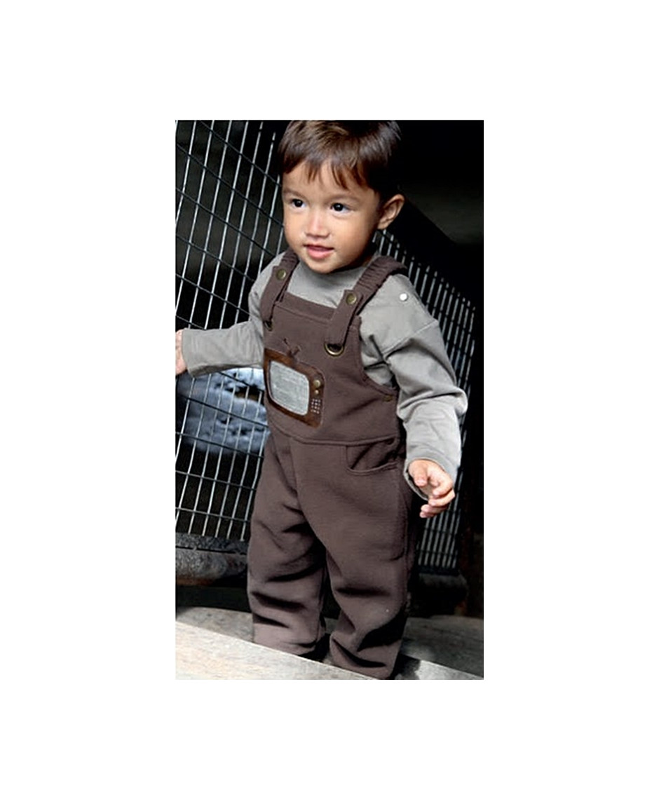 PERLIMPINPIN ROMPERS TV BROWN