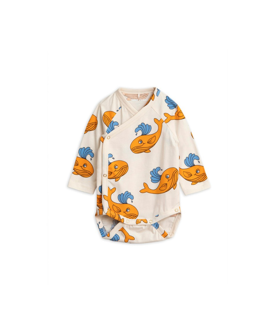 MINI RODINI BODY NB WHALE ORANGE