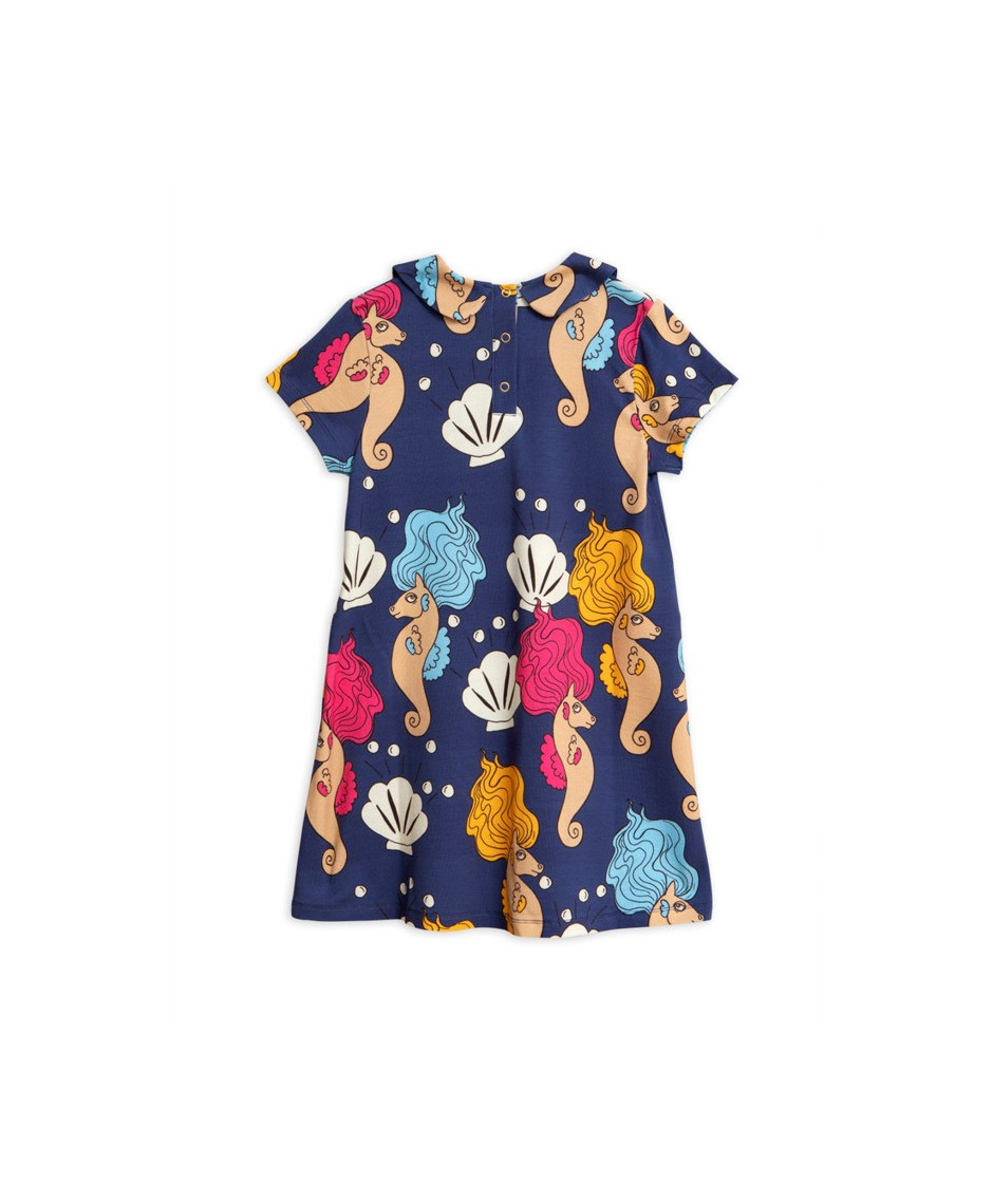 MINI RODINI DRESS SEAHORSE NAVY