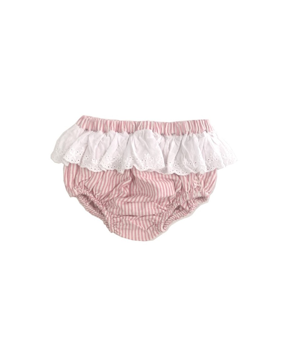 TOCOTO CULOTTE STRIPES PINK
