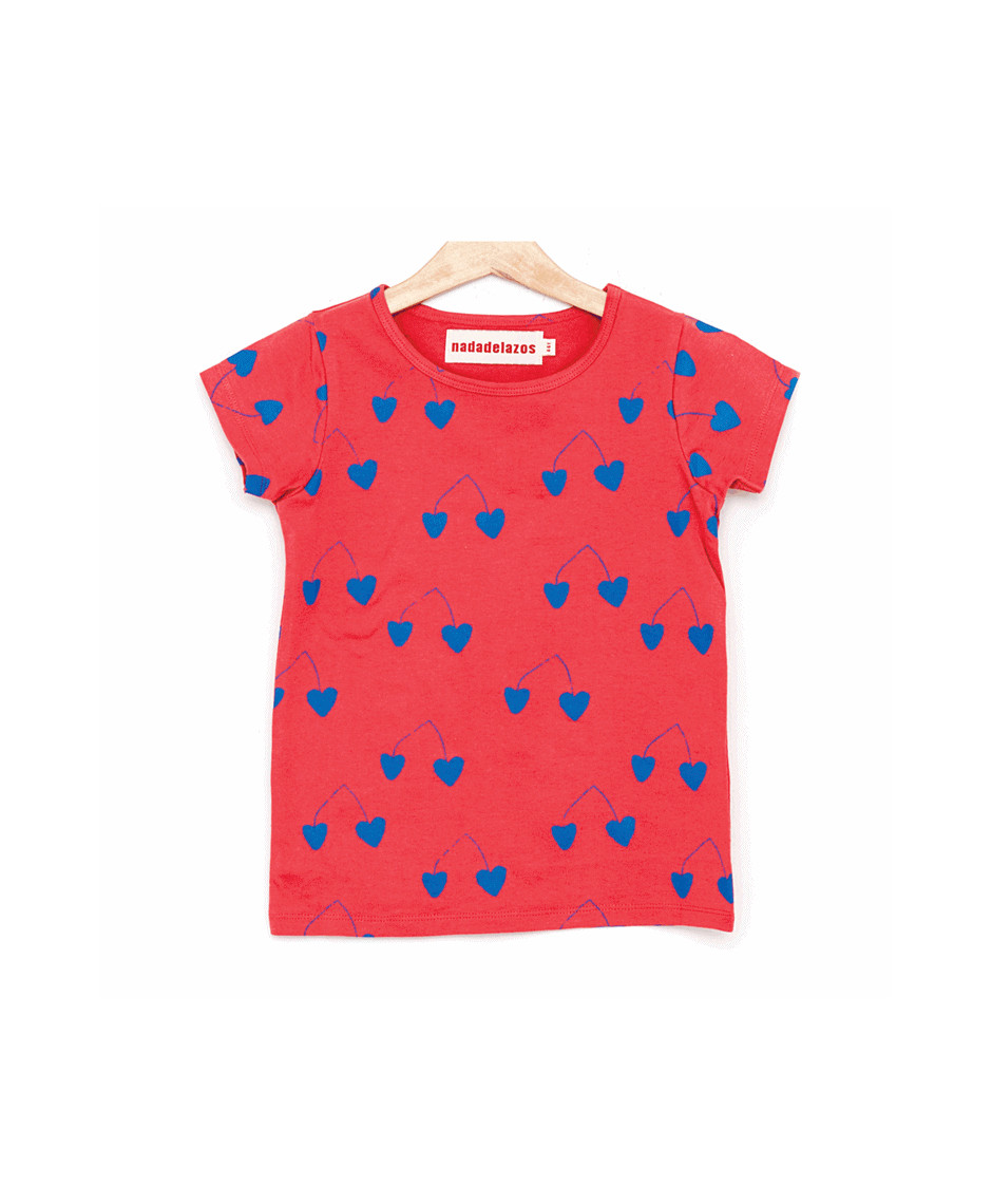 NADADELAZOS T-SHIRT CHERRIES RED