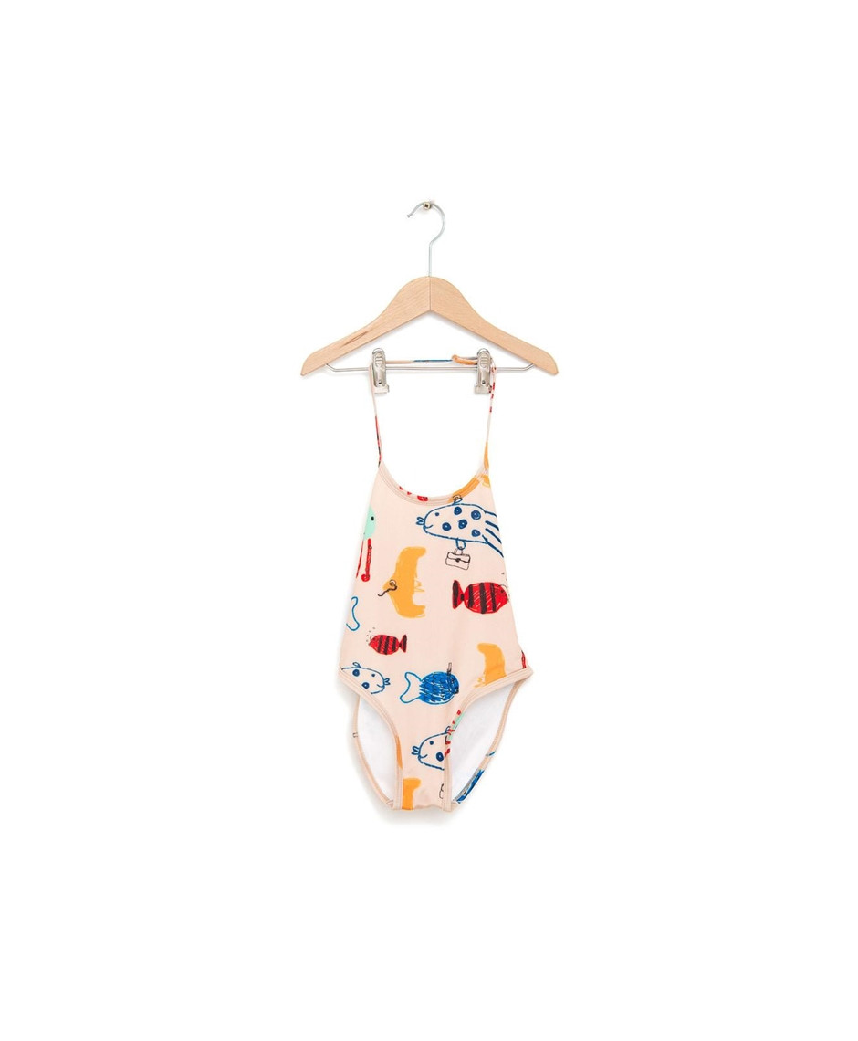 NADADELAZOS SWIMSUIT FISHES LIGHT BEIGE