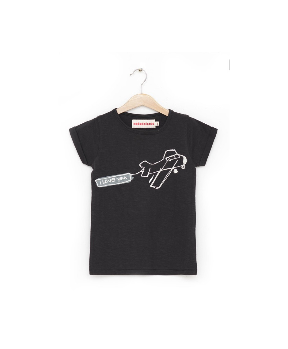 NADADELAZOS T-SHIRT AIRPLANE BLACK