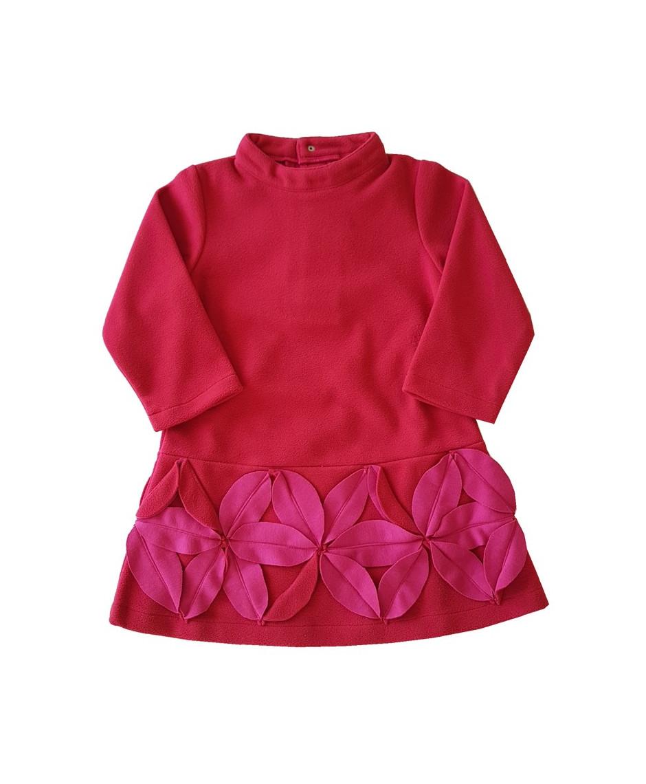 PERLIMPINPIN DRESS FLOWERS PINK FUCHSIA