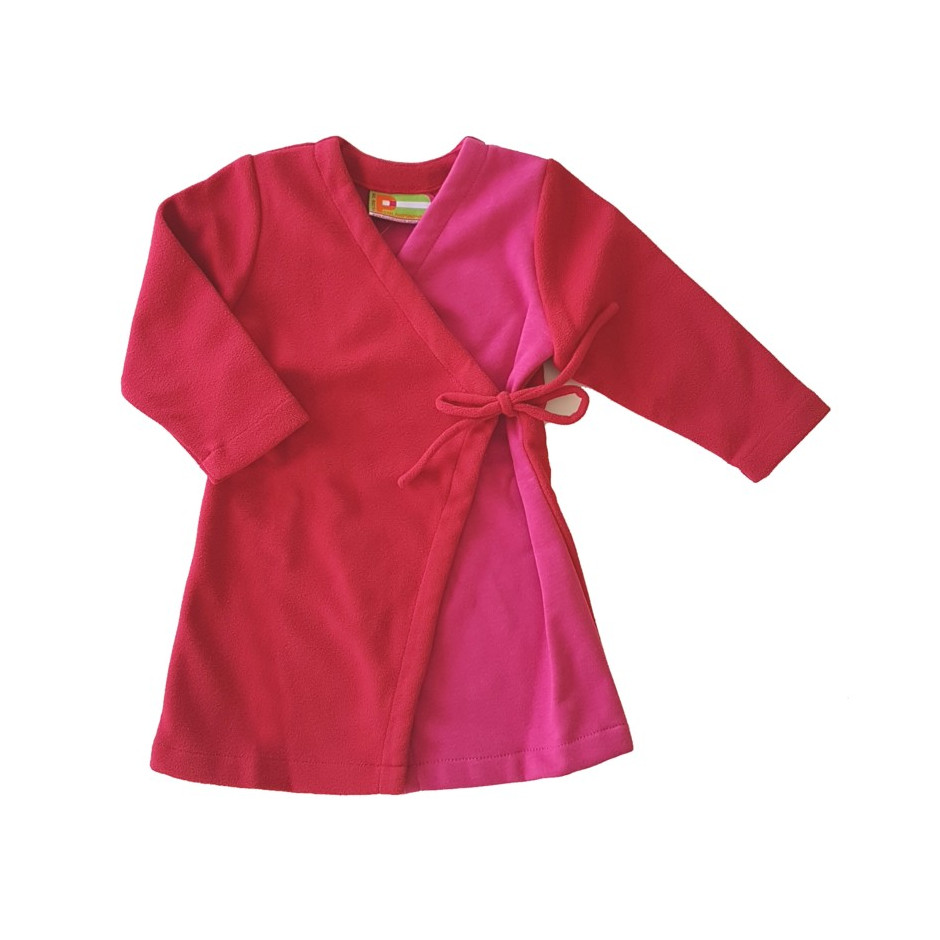 PERLIMPINPIN WRAP DRESS PINK FUCHSIA
