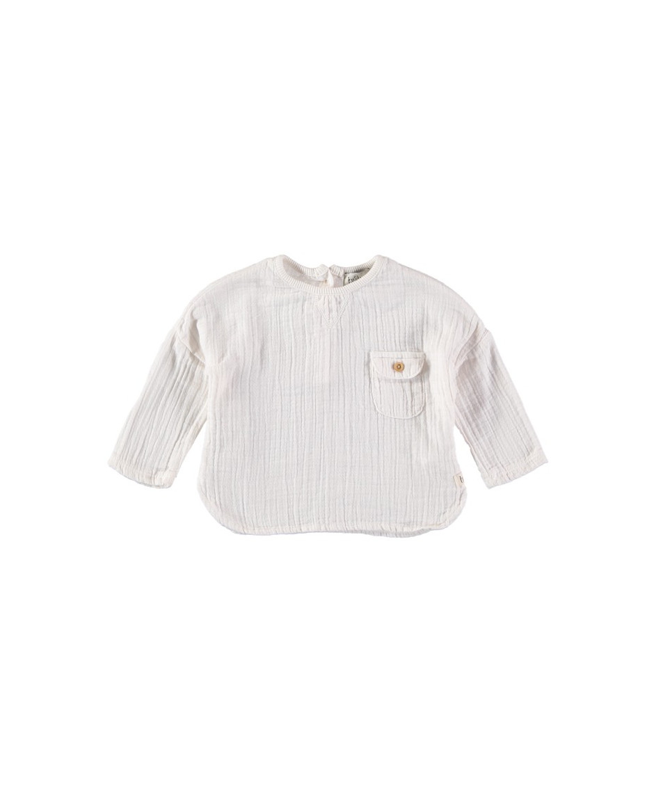 BÚHO BCN TEO COTTON GAUZE SHIRT