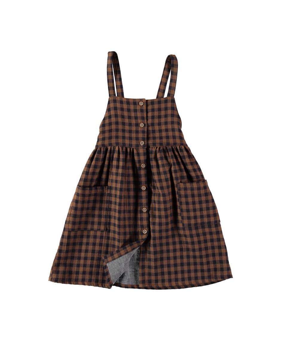 BÚHO BCN LAURA BUTTONED DUNGAREE DRESS