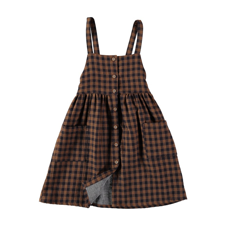 BÚHO BCN LAURA BUTTONED DUNGAREE DRESS
