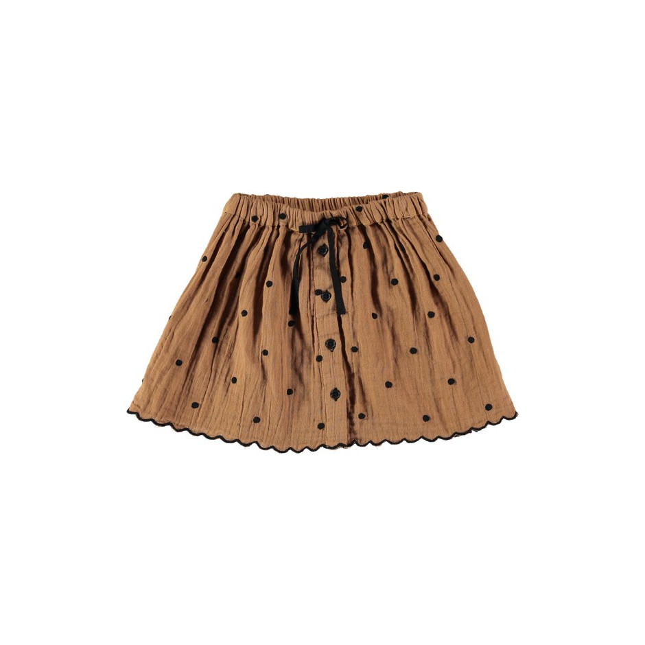 MAFALDA DOTS BUTTONE SKIRT