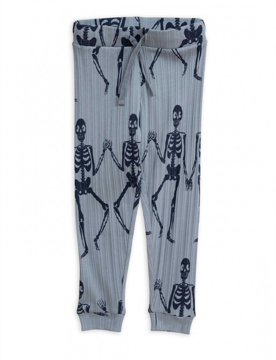 MINI RODINI SKELETON JERSEY TROUSERS