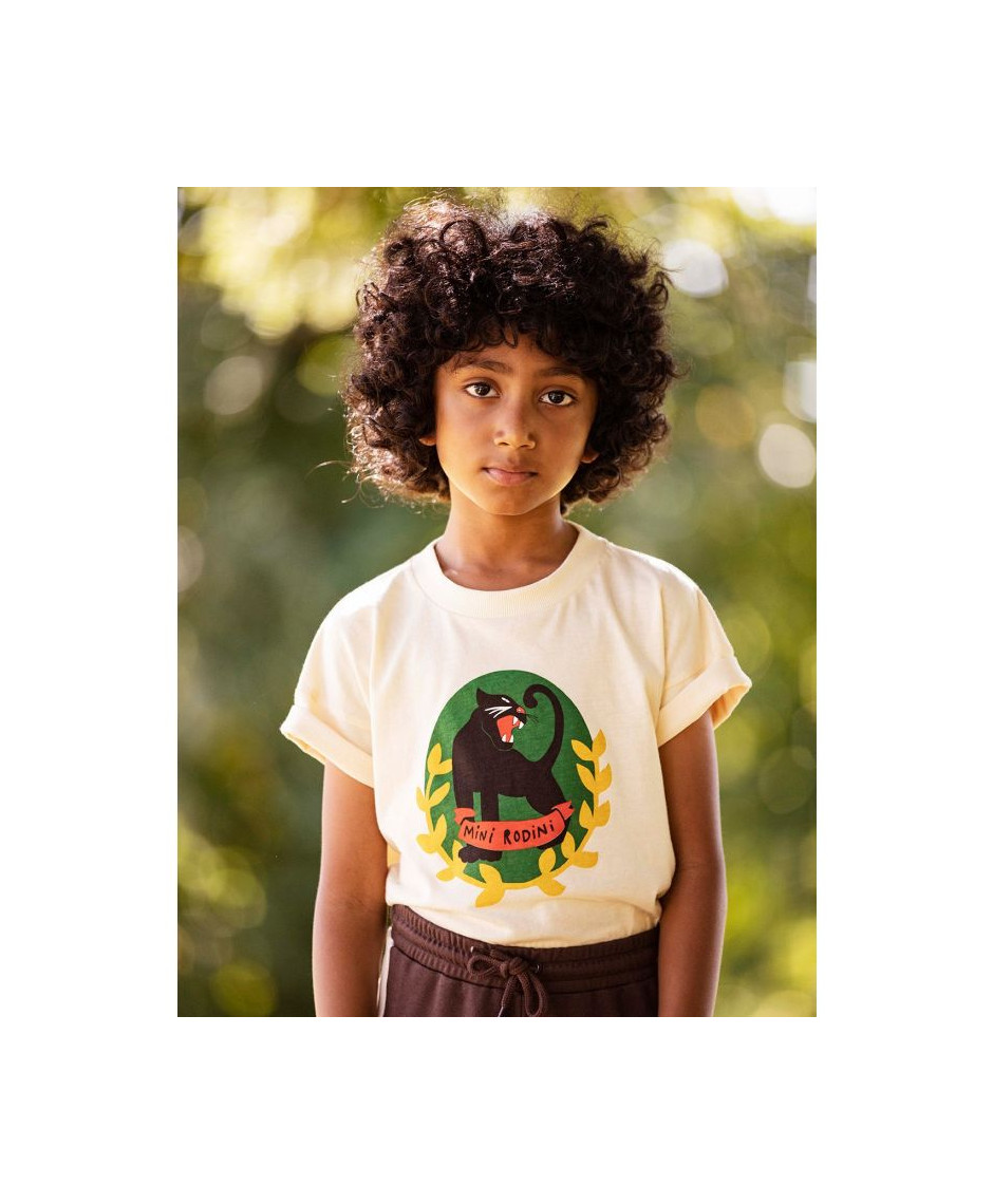 MINI RODINI Panther Badge T-shirt