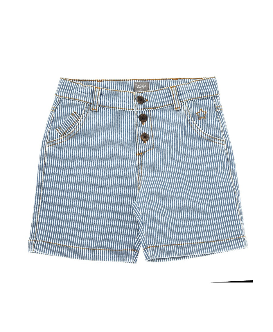 TOCOTO VINTAGE DENIM 5 POCKET BERMUDAS