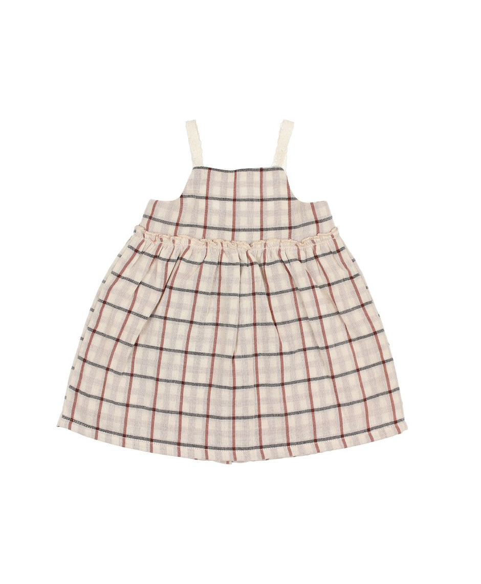 BÚHO BCN ADELE DOUBLE CHECK DRESS