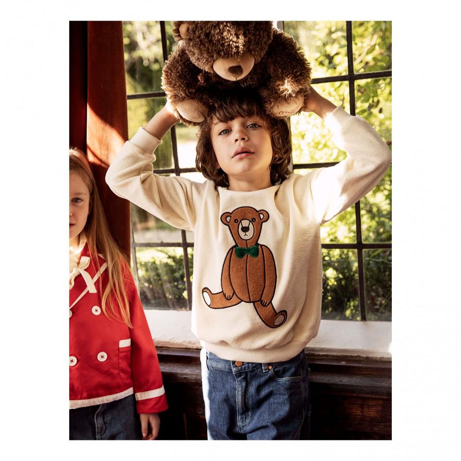 MINI RODINI Teddy Bear Sweatshirt