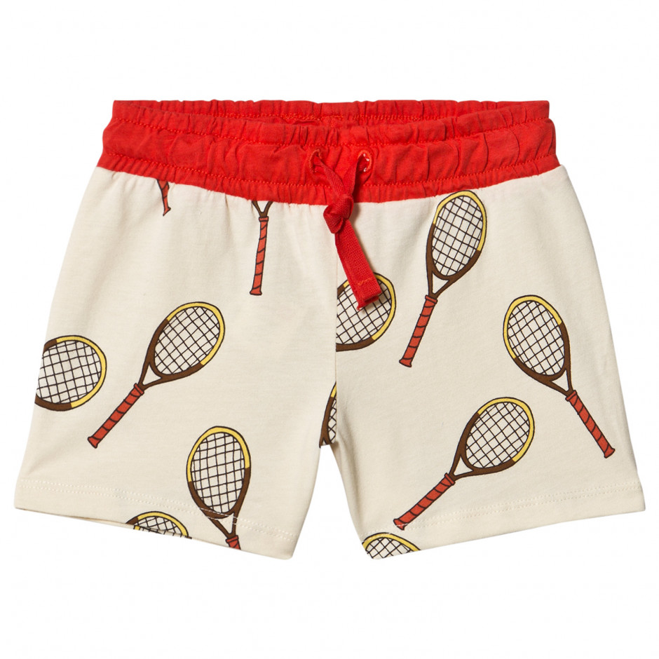MINI RODINI Tennis Shorts Off White